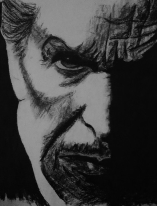 Vincent Price - Charcoal on Paper